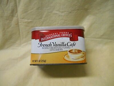 Vintage General Foods International Cafe Coffee Tin French Vanilla 9 Oz 5 99 Picclick
