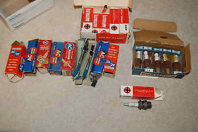 Vintage Lot Of Spark Plugs Ac Delco Autolite Champion Some Used Some New W Boxes