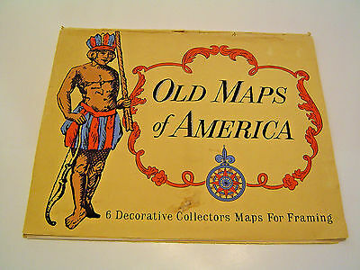 VINTAGE OLD MAPS OF AMERICA - 6 Decorative Collectors Maps For Framing,  MORRIS