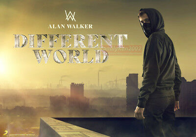 Alan Walker Different World 2018 Taiwan Official UNFOLDE Promo Poster NEW!