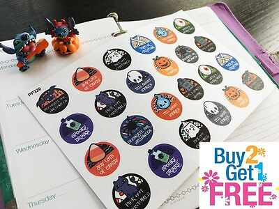 PP329 -- Halloween Icons Things To Do Planner Stickers for Erin Condren (24pcs)