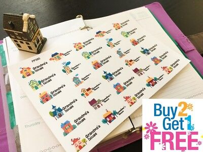 PP380 -- Cute Grandma's House Planner Stickers for Erin Condren (30pcs)
