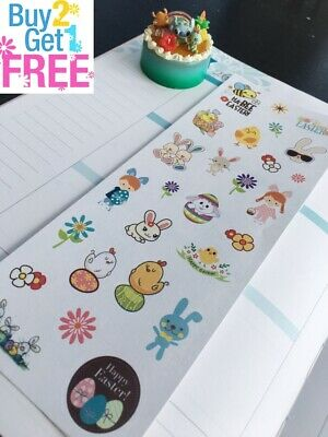 PP314 -- Small Easter Cute Icons Life Planner Stickers for Erin Condren (31pcs)