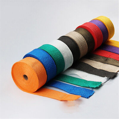 Black Car Fiberglass Heat Insulation Fiber Thermal Wrap Exhaust Pipe Tape