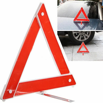 Car Emergency Breakdown Hazard Stop Sign Warning Triangle  Red Reflective