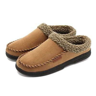 4800ee3d34e Men s Suede Casual Shoes Moccasins House Slippers Driving Loafers Warm Slip  on