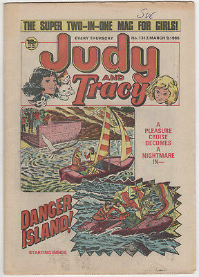 JUDY & TRACY Girls Comic 9th March 1985 Number 1313 32 Pages - Vintage