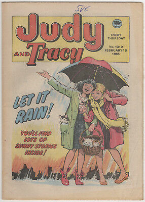 JUDY & TRACY Girls Comic 16th February 1985 Number 1310 32 Pages - Vintage