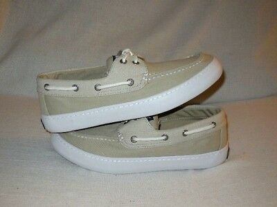 b16e7accacc21 SPERRY MEN'S CUTTER 2-Eye Mix Cream Boat Shoes Moccasins Size US 9 M