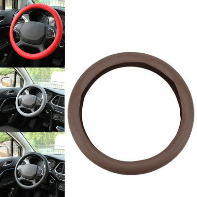 Soft Steering Wheel Cover Protection Shell Silicone Glove Leather Texture