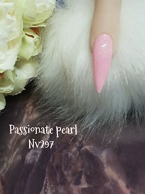 Passionate Pearl Glittered Acrylic Powder 10G Bag Spend £50 10G Free See Below