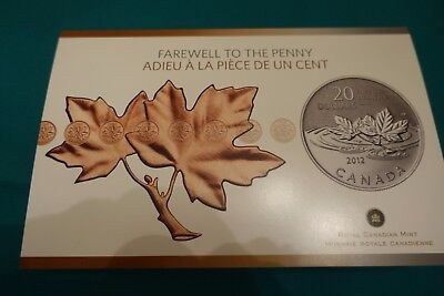 2012 CANADA $20 Farewell to the Penny - Pure Silver Coin