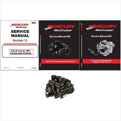 MerCruiser #31 5.0L / 5.7L / 6.2L MPI Engine Service Repair Manual CD - MAG MX
