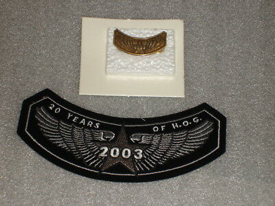NOS Harley Owners Group 2003 Pin 20 Years of Hog and Patch