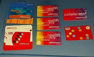 Lot of 7 - CVS no value collectible gift card