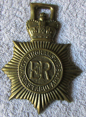 Obsolete Nottinghamshire Constabulary Insigne Police En Bronze Cap Badge