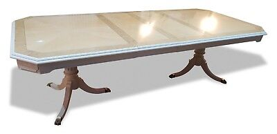 Stunning Designer Art Deco style Maple & Burr Ash dining table French Polished