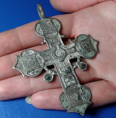 Ancient Silver Cross. Big !!! VERY RARE !!!