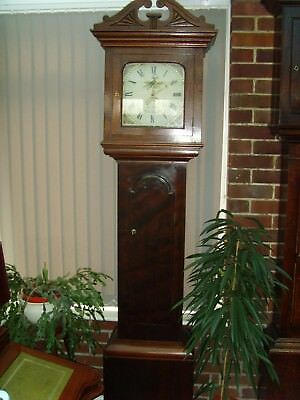 circa 1830's  Mahogany case Grandfather clock with working date mechanism