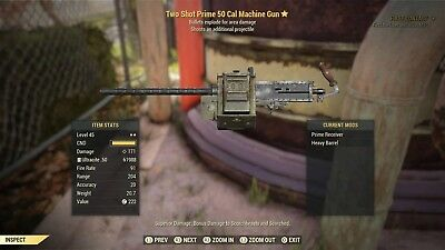Fallout 76 Two Shot Prime Explosive 50 Cal (PS4 ONLY)