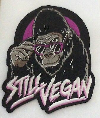 LARGER  STILL VEGAN FUN PATCH IRON  ON PATCH  buy 2  WE SEND. 3 of  these