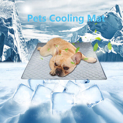 Pet Dog Cool Cooling Gel Mat Dog Cat Bed Non-Toxic Dog Summer Pad 4 Sizes