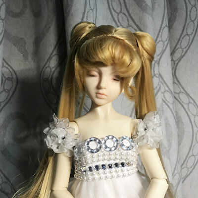Sailor Moon Princess Serenity Wig Hair Fit for 1/3 BJD Doll Cosplay Bunches New