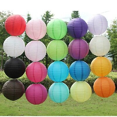 10'' Chinese Paper Lanterns Lamp Shade Wedding Party Decoration 25cm