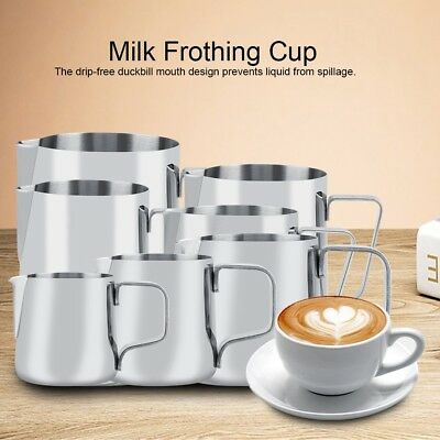 Stainless Steel Milk Craft Coffee Latte Frothing Art Jug Pitcher Mug Cup 7 Sizes