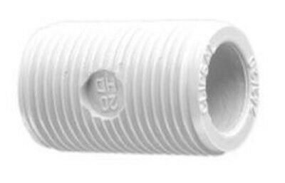 8x Clipsal PVC CONDUIT SCREWED NIPPLES External Thread, Grey - 16mm Or 20mm