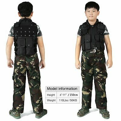 600D nylon Tactical Vest Child Waist Coat CS Cambat Traning Vest Clothing