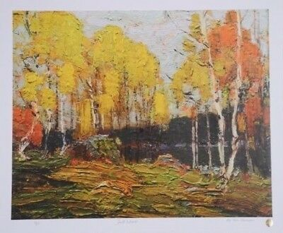 """Tom Thomson Ltd (#54 of 275) signed & Sealed Lithograph """"Fall Woods""""20x24 inch"""