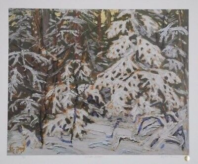 """Tom Thomson VERY Ltd #40 of 275 Signed/Sealed Lithograph """"Winter Woods"""" 20X24"""