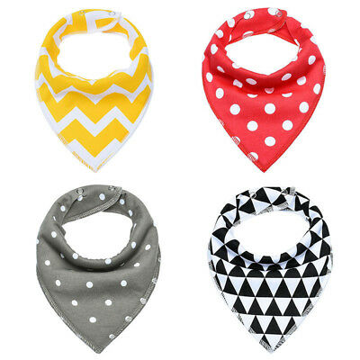 Baby Bibs Bandana Drool Bib 4 Pack Cotton Gift Pack Soft