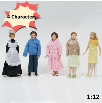 4 Character 15cm 1:12 Dollhouse Miniature Mini Doll Model Crafts Gifts
