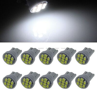 10 X White New wedge 1206 LED 8 SMD T10 W5W Car lighting Width lamp Light Bulb