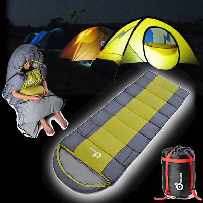 Ultralight Waterproof Camping Envelope Sleeping Bag Single Travel Hiking Outdoor