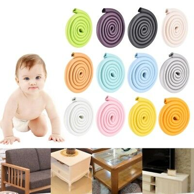 2M Table Protection Kids Baby Safety Corner Desk Guard Rubber Soft U Shaped Edge