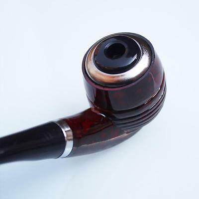 Durable Wooden Enchase Smoking Pipe Tobacco Cigarettes Cigar Filter Pipes-Gift