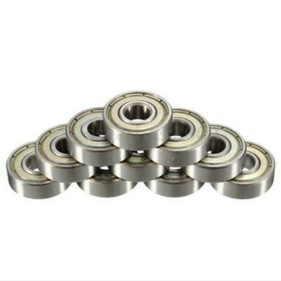 10PCs 608ZZ Ball Bearing Dual Sided Carbon Steel Shielded Deep Groove