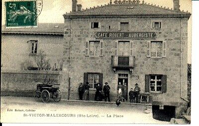(S-40779) France - 43 - St Victor Malescours Cpa Cafe Robert Aubergiste     Robe