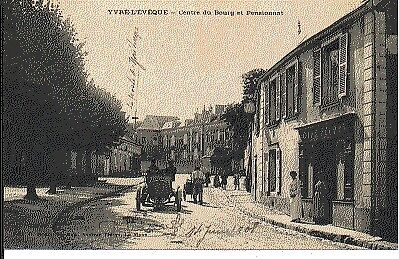 (S-28055) France - 72 - Yvre L Eveque Cpa Cafe Jeudon