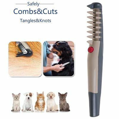 Electric Dog Cat Grooming Comb Pet Safety Hair Scissor Trimmer Tangles Tools Kit