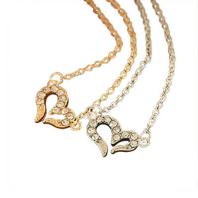 Lovely Studded Wish Love Necklace Sweet Girl Charm Short Clavicle Chain Necklace
