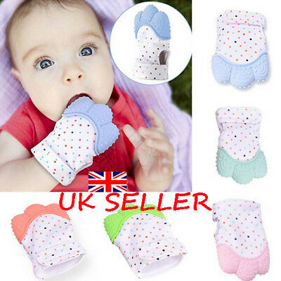 UK Baby Silicone Teething Mitten Teething Glove Anti-Bite Wrapper Soft Teether