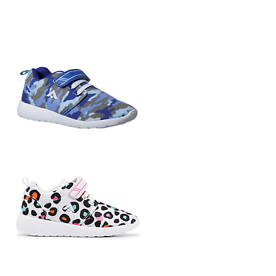 Unisex Children Aerosport Rascal Blue Camo Leopard Runners Sneakers Casual Shoes