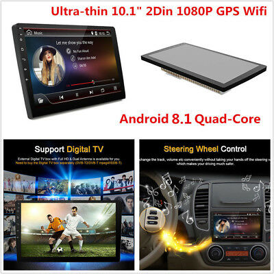 """10.1"""" Android 8.1 Double 2Din Car Stereo Radio GPS OBD2 Wifi Mirror Link Player"""