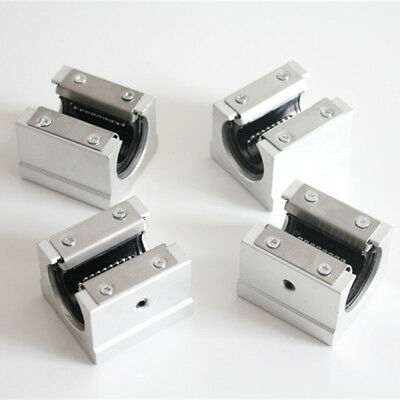 4Pcs SBR25UU 25mm Aluminum Open Linear Motion Bearing Slide Unit for Linear Rail
