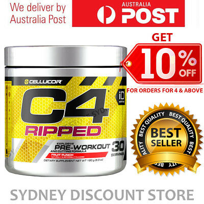 Cellucor C4 Ripped Pre Workout +  Energy Thermogenic Fat Burner Gen4 30 Serves