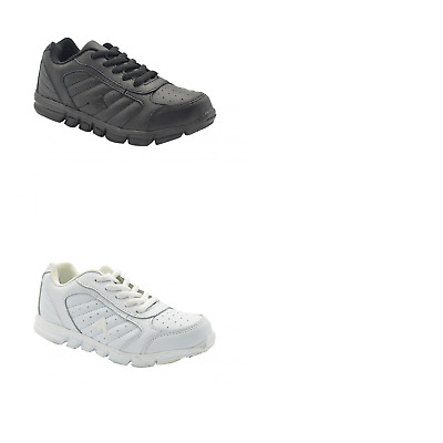 Unisex Children Aerosport Fusion Youth Black White Runners Sneakers Casual Shoes